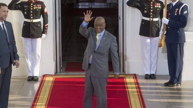 Tom Thabane, Premierminister von Lesotho, im Weissen Haus (Archiv)