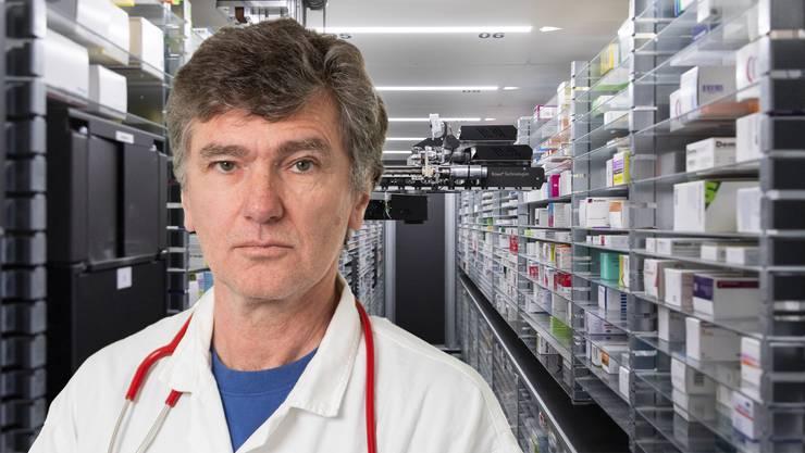 Severin Lüscher, Grossrat Grüne sagt: «Es ist zentral, dass wichtige Medikamente in der Schweiz oder zumindest in Europa produziert werden. Um das zu garantieren, braucht es verpflichtende Regeln.»