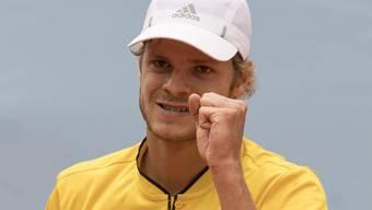Yannick Hanfmann qualifiziert sich als Nummer 170 der Welt in Gstaad für die Viertelfinals