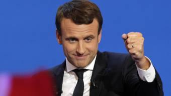 Er liegt nach der ersten Runde der französischen Präsidentschaftswahlen vorn: Emmanuel Macron will nun die Stichwahl gegen Marine Le Pen vom Front National für sich entscheiden. (Archivbild)