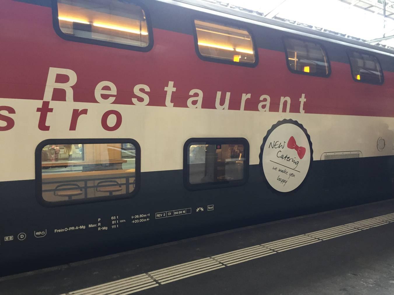 Der neue SBB-Restaurantwagen im Bahnhof St.Gallen. © FM1Today