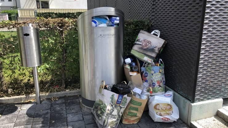 Immer wieder illegaler  Abfall in Wettingen und überall