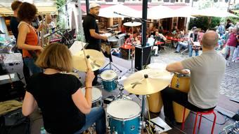 Konzert am Andreasplatz im Rahmen von «Em Bebbi sy Jazz». (Archiv)