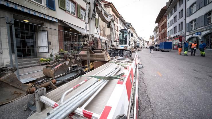 Die Sanierung der Liestaler Rathausstrasse hat begonnen.