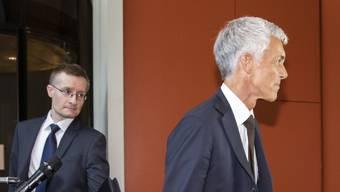 Bundesanwalt Michael Lauber im Mai 2020 bei einer Anhörung im Bundeshaus. Hier mit seinem Rechtskonsulenten Alexander Medved, der wie Laubers Kommunikationschef im umstrittenen «Büro des Bundesanwalts» arbeitete.