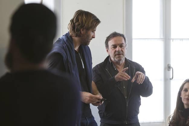 Regisseur Marcel Gisler und sein Kameramann Michael Saxer (links)