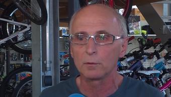 """Fredy Geisseler im Beitrag von """"Tele M1""""."""
