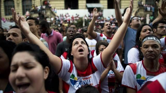 """""""Marsch für Jesus"""": Evangelikale im Zentrum von Rio de Janeiro"""