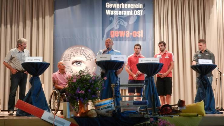 Podiumsdiskussion zum Thema Extremsport am Sonntagnachmittag. Vorher präsentierte Bergsteiger Diego Wellig (ganz links) sein Buch «Grenzenlos».