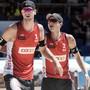 Adrian Heidrich (links) und Mirco Gerson - im Bild am Major-Turnier letzte Woche in Gstaad - stehen an der EM in den Achtelfinals
