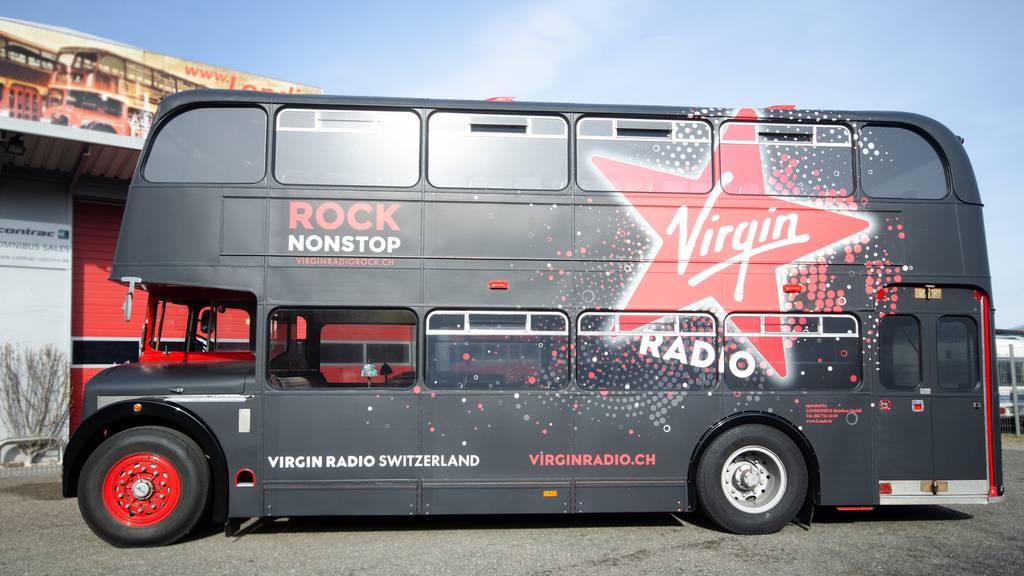 Die Jungfernfahrt des Virgin Radio Londonbus ist Geschichte!
