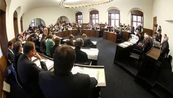 Anfang Mai wird das neu gewählte Kantonsparlament zur ersten Session der neuen Legislatur zusammenkommen.Archiv/Hanspeter Bärtschi