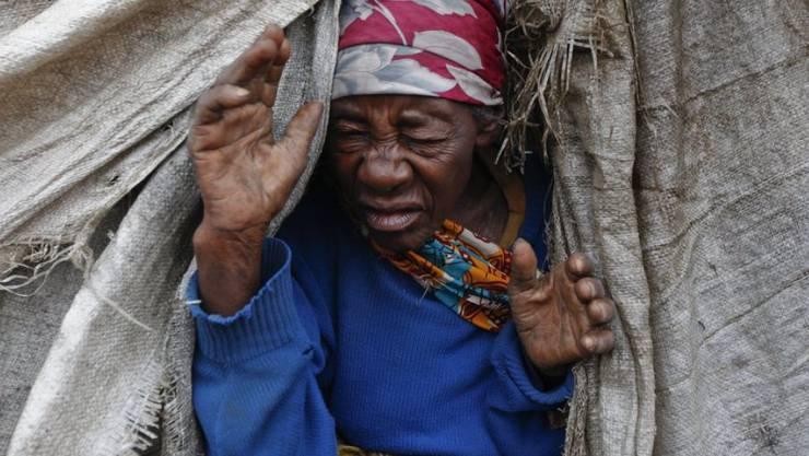 Eine Binnenvertriebene in einem Lager in der Demokratischen Republik Kongo. (Archiv)