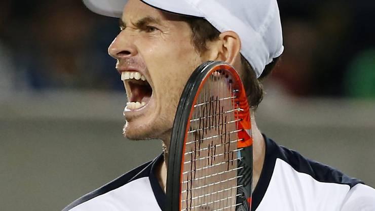 Nach Wimbledon auch bei Olympia in Rio siegreich: Andy Murray jubel über seine zweite Goldmedaille
