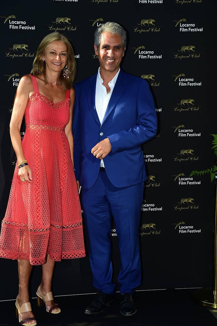 Zu Gast in der alten Heimat. Marcello Foa besucht mit seiner Frau das Filmfestival Locarno.
