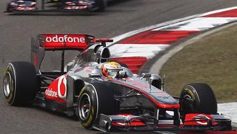 Lewis Hamilton feiert in Schanghai seinen 15. GP-Sieg.