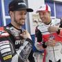 Zufriedene Gesichter nach den ersten Testtagen in Jerez: Tom Lüthi (li.) und Dominique Aegerter