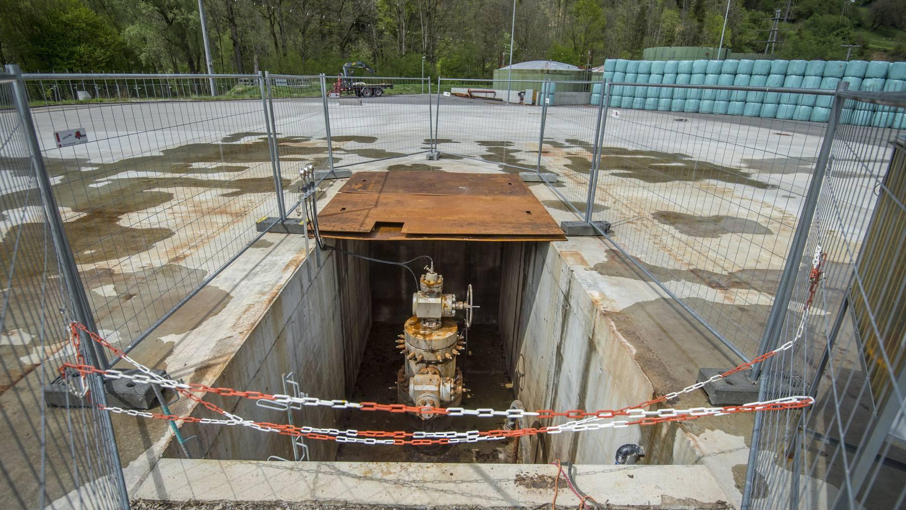 Das rund 4450 Meter tiefe Bohrloch ist seit mehreren Jahren verschlossen.