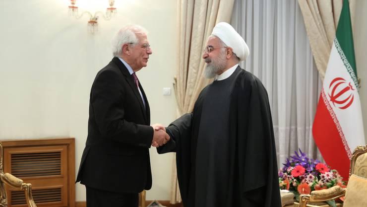 Der EU-Aussenbeauftragten Borrell ist in Teheran von Präsident Ruhani empfangen worden. Im Zentrum der Gespräche stand das Atomabkommen.