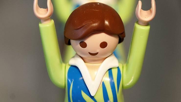 Playmobil-Spielfigur bei einer Ausstellung in Lausanne. (Archivbild)