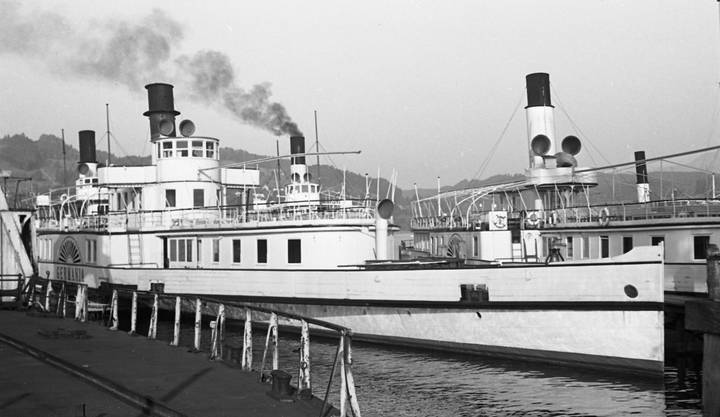 Dampfschiff «Germania» 1950 in Luzern.
