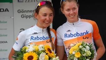 Zwei Überfliegerinnen aus Holland: Anouska Koster (links) gewann am Sonntag das UCI-Rennen, Thalita de Jong wurde am Sonntag Dritte und gewann das Rundstreckenrennen vom Samstag.