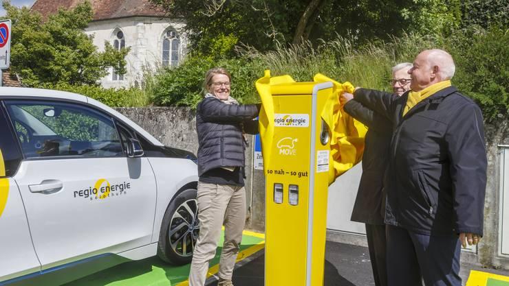 Solche Elektro-Ladestationen will die Regio Energie auch in anderen Gemeinden als Solothurn bauen. (Archiv)