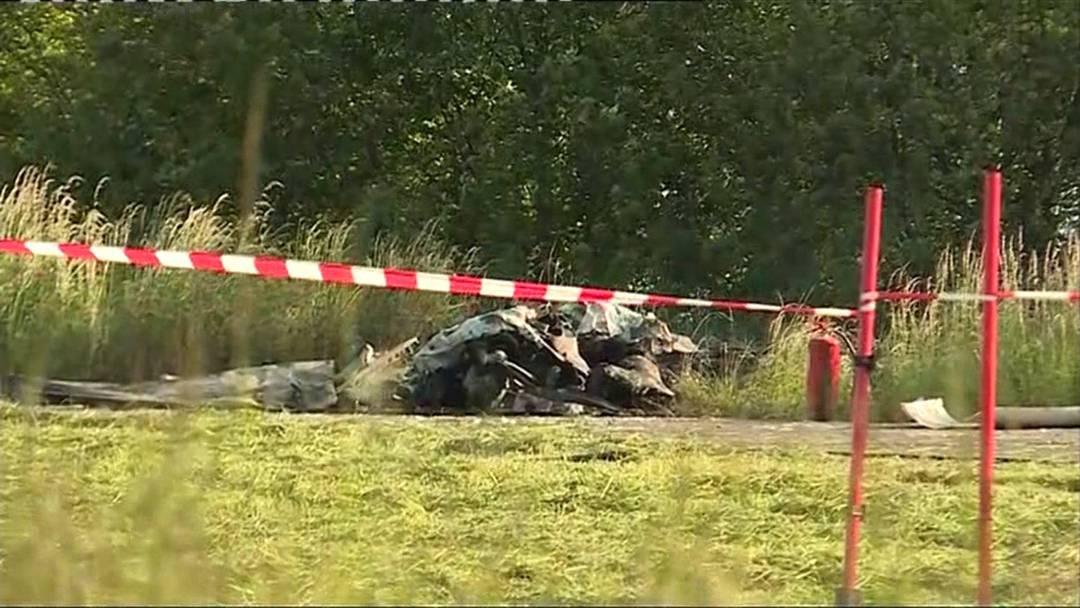 Pilot stirbt bei Flugzeugabsturz nahe Flugplatz Birrfeld (14.5.2019)