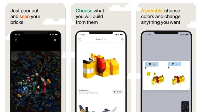 BrickIt App Printscreens