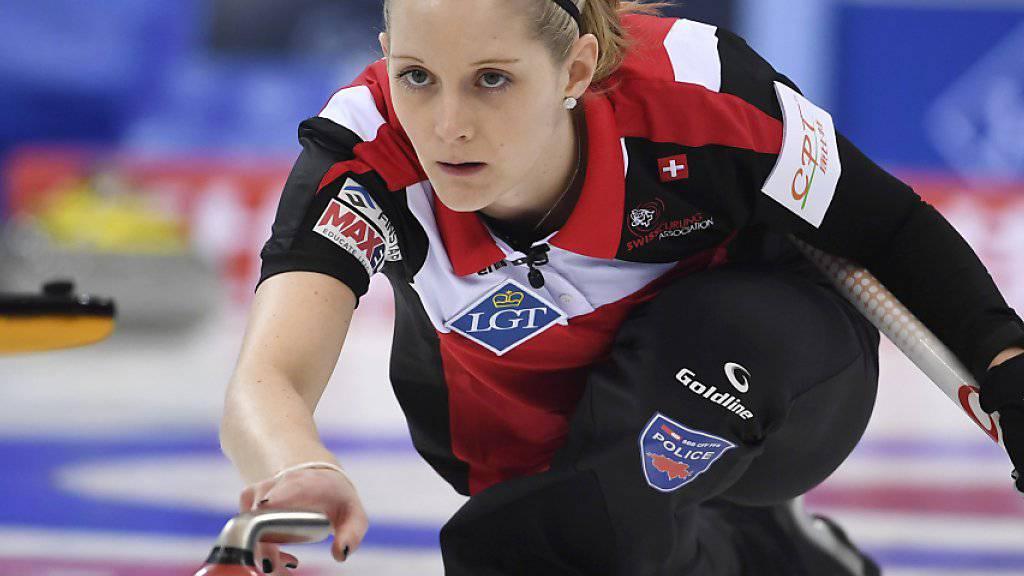 Marisa Winkelhausen, auf der 2. Position im Schweizer Team spielend