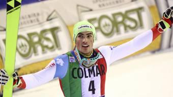 Daniel Yule gewinnt den Slalom von Madonna di Campiglio.