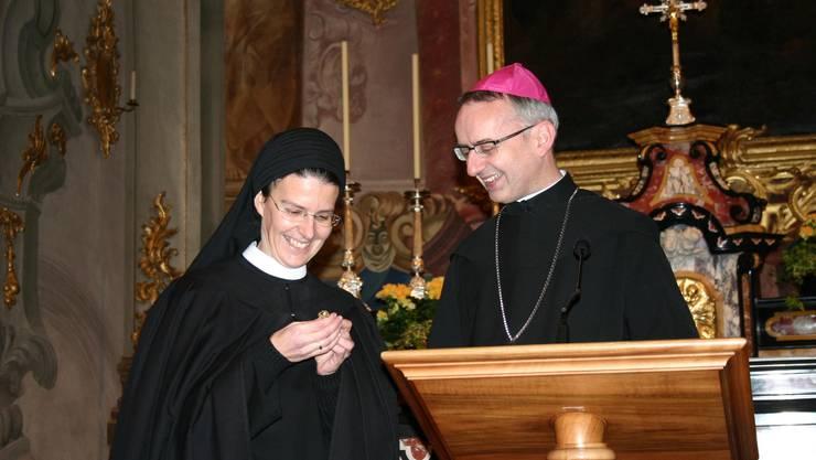 Prorin Irene und Abt Martin Werlen haben den Veränderungsprozess im Kloster Fahr massgeblich mitgestaltet