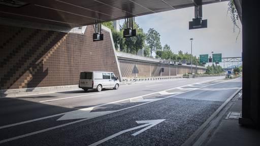 Stadtautobahn wegen Tunnelreinigung gesperrt