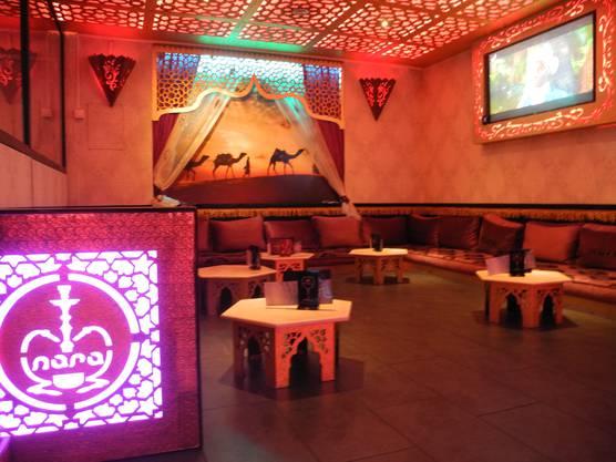 So sieht es in der Nara-Bar aus. Ebenfalls in Zuchwil.