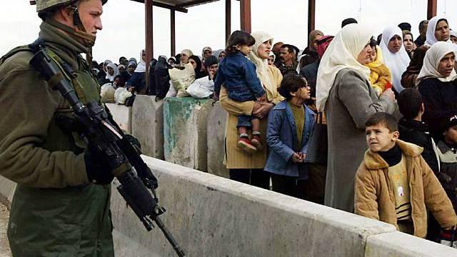 Bewachter Grenzübergang im Gazastreifen