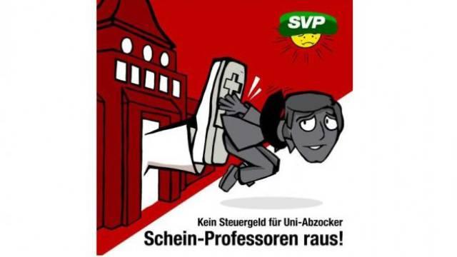Böse Satire von Werbeagentur, die auch für die Universität Zürich tätig ist. Bild: Werbeagentur «Feinheit»