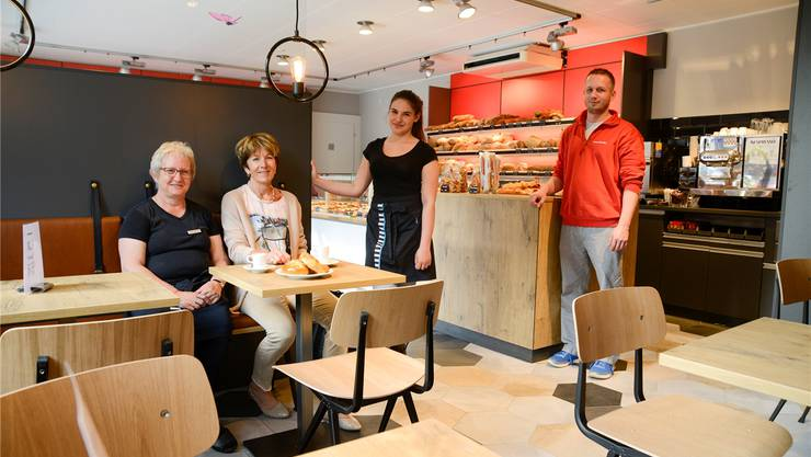 Von links nach rechts: Judith Elsener, die weiterhin im Laden tätig ist, Susanne Studer, Delia Speziani und Yves Studer.