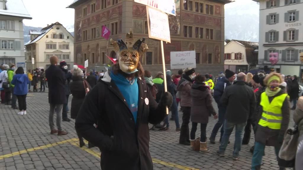 Grosses Polizeiaufgebot bei Demo gegen «Corona-Willkür»