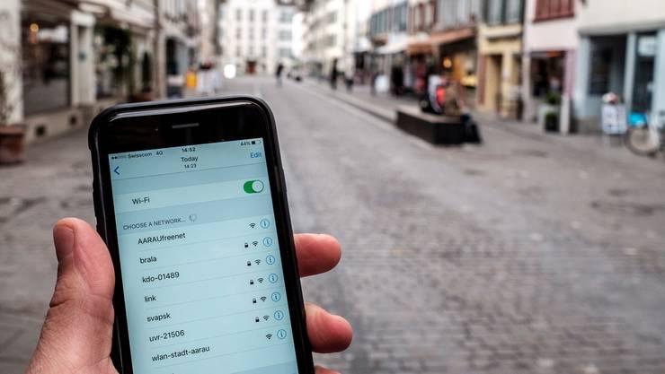 «Aarau Freenet» kann man in der Innenstadt nutzen.