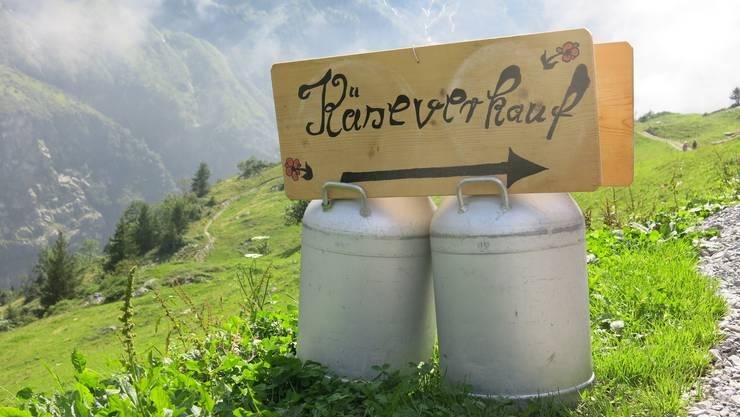 Einen möglichst leeren Rucksack mitbringen: In den Alpkäsereien gibt es hervorragenden Käse. Bild: aba
