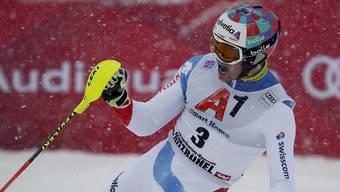 Zuvor in seiner Karriere schon dreimal Vierter, nun in Kitzbühel hat es endlich mit dem ersten Podestplatz im Weltcup geklappt: der drittklassierte Walliser Daniel Yule