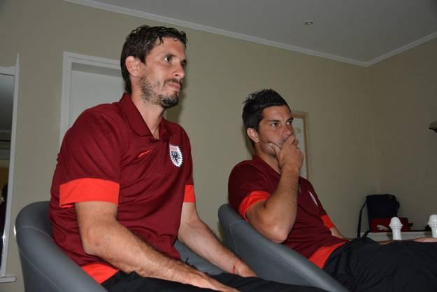 Ernüchterung bei den beiden FCA-Argentinier zur Pause