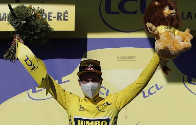 Primoz Roglic trägt nach zehn Etappen das Maillot jaune und führt das Gesamtklassement an.