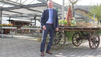 Das Sortiment in der neuen Gärtnerei bereitet Gesamtleiter Daniel Büchi Freude.