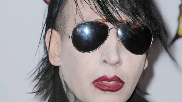 Versucht sich als Model: US-Musiker Marilyn Manson (Archiv)