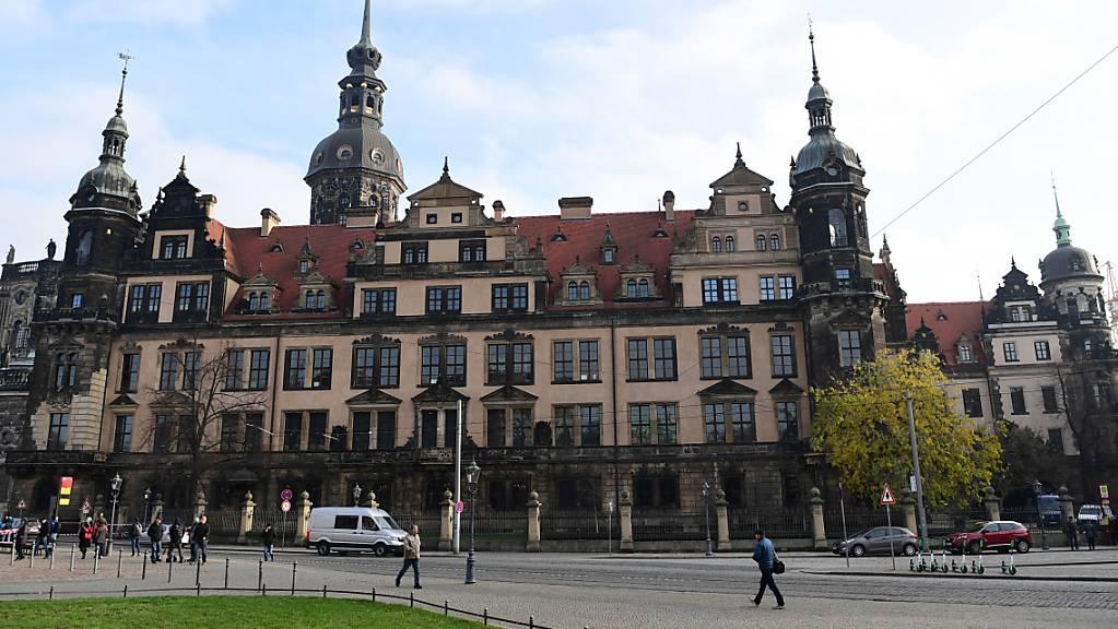 Das Residenzschloss im Zentrum von Dresden.
