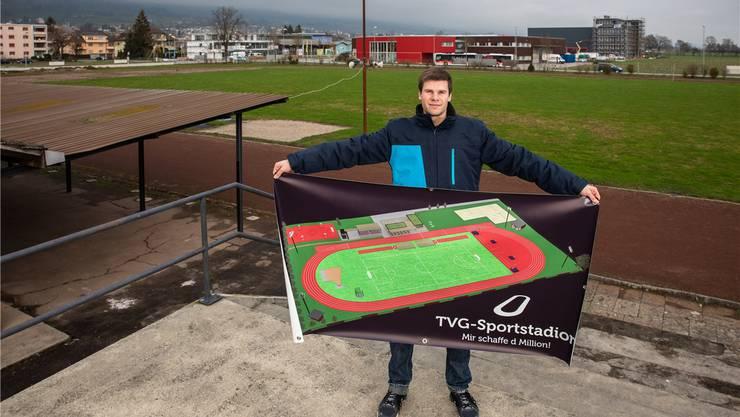 Million geschafft - und mehr:  Elias Meier und das Stadionprojekt.