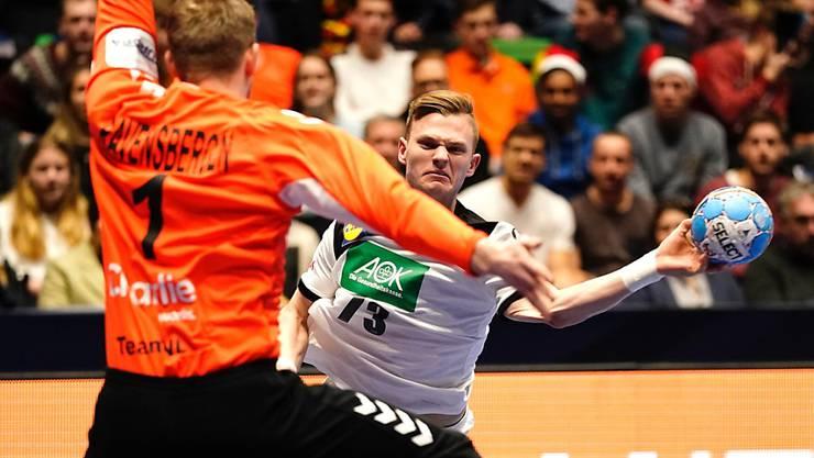Deutschland, im Bild Timo Kastening, bekundete gegen die Niederlande lange Zeit Mühe