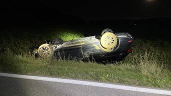 Tegerfelden: Selbstunfall– Fahrzeug überschlagen 6. Juli 2020