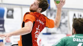 Schaffhausens Gabor Csaszar war beim 32:25-Sieg im Auswärtsspiel Fortitudo Gossau mit zehn Toren der erfolgreichste Skorer